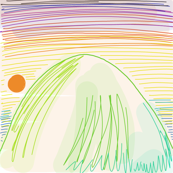 Sunset - Online Drawing Game Comic Strip Panel by ArelaEstudio