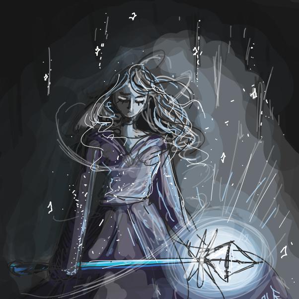 Drawing in Ice Magic  by ortani