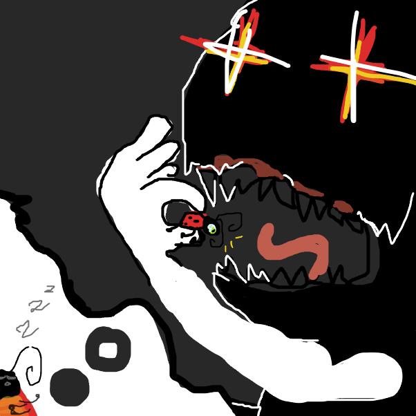 ladybug has a nightmare - Online Drawing Game Comic Strip Panel by yogiibear