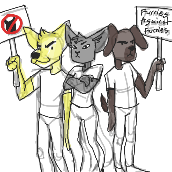Drawing in I'm an anti furry by KyBear