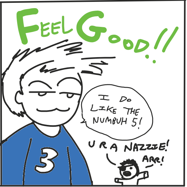 First panel in 5 is my lucky number! drawn in our free online drawing game