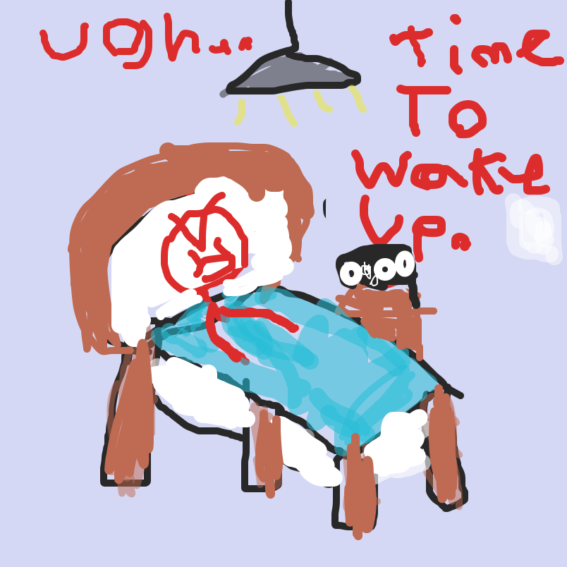 First panel in A day in the life of Red Guy drawn in our free online drawing game