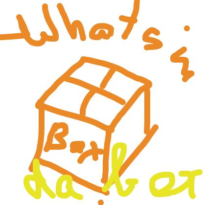 First panel in THE box drawn in our free online drawing game