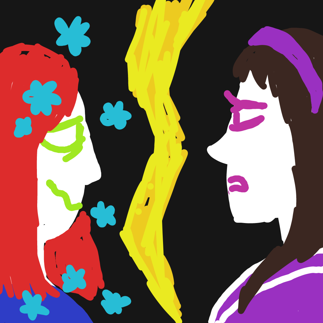 Lovers!? What do you mean? - Online Drawing Game Comic Strip Panel by Rednightlight