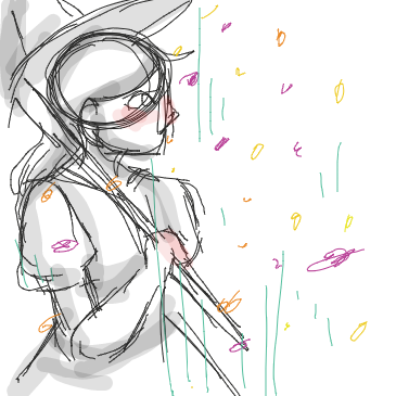 First panel in Raining Petals drawn in our free online drawing game