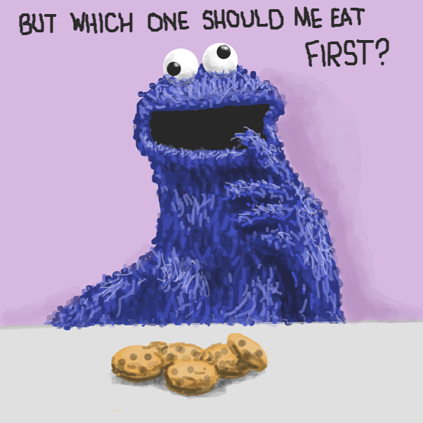 Drawing in Cookie Monster by Dogg