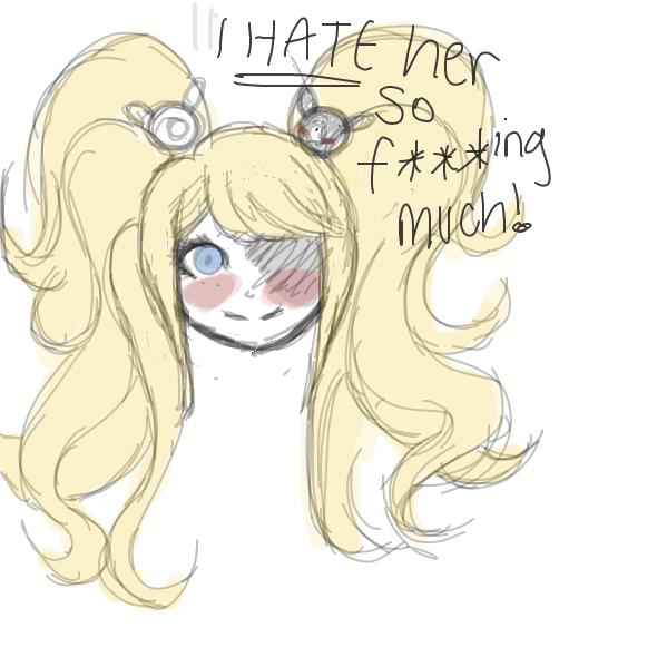 Drawing in I hate her so much... by Roodles_Doodles