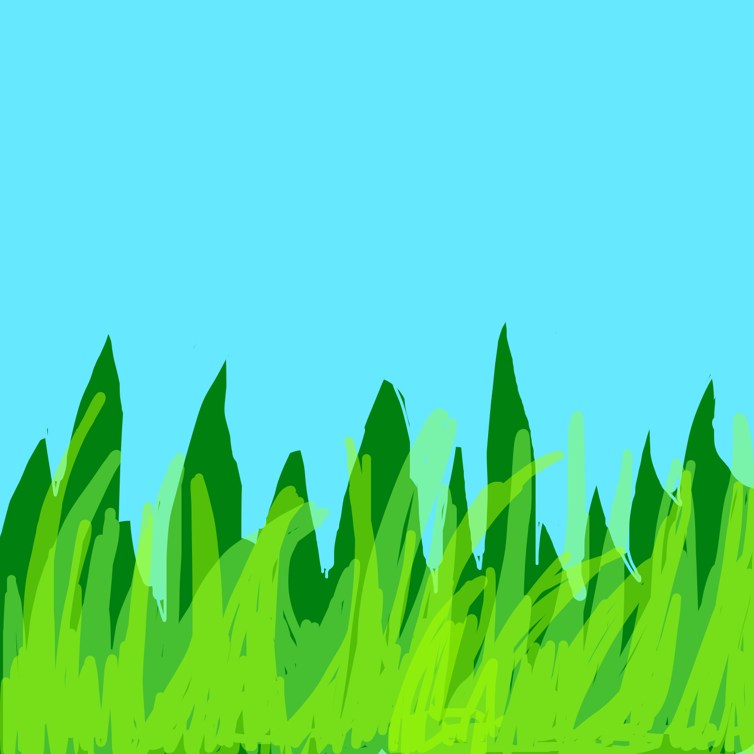 First panel in Grass drawn in our free online drawing game