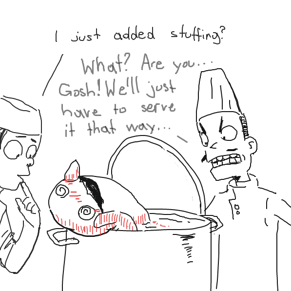 Wait... about the boots? - Online Drawing Game Comic Strip Panel by SluggishFella