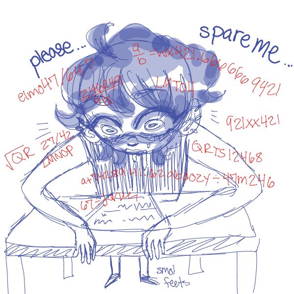 Drawing in I hate math by NurseKae