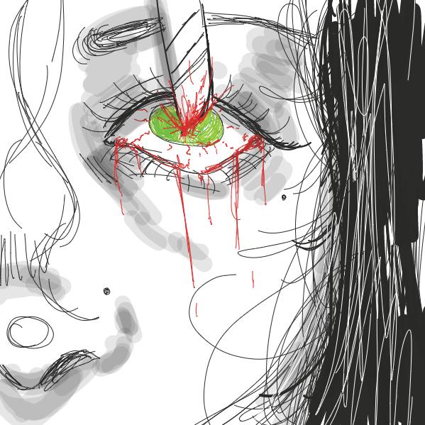 Drawing in dead inside by NurseKae