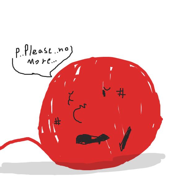 Drawing in Cat vs Yarn by Izzaro21