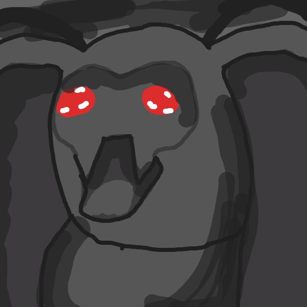 Drawing in Mothman wants Lamp? by Yangstablook