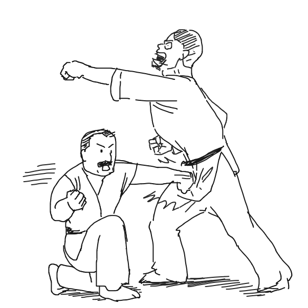 Drawing in Karate by Fathur