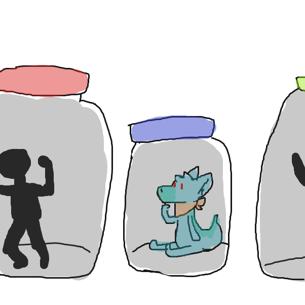 Drawing in Jammers in Jars by Izzaro21