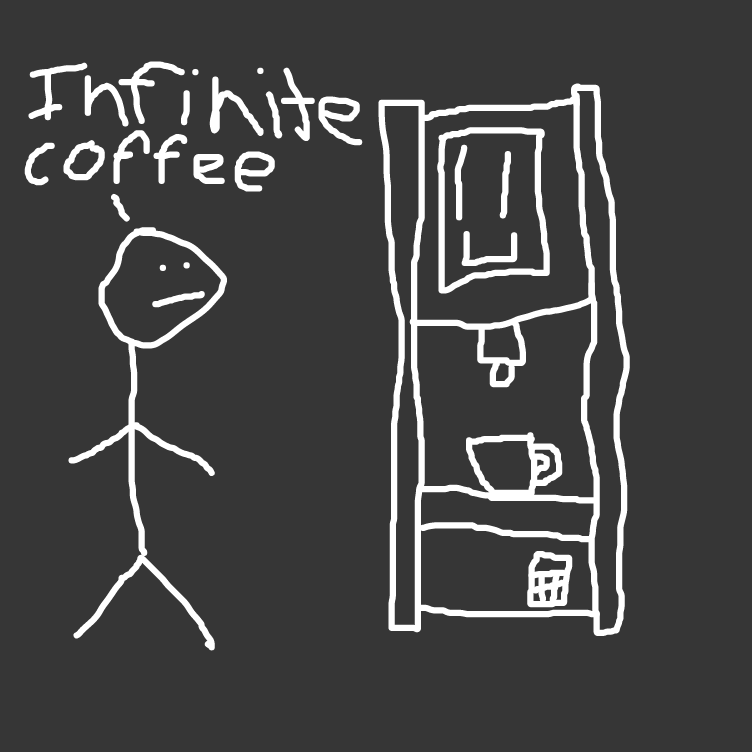Drawing in Infinite Coffee Machine by Duncan