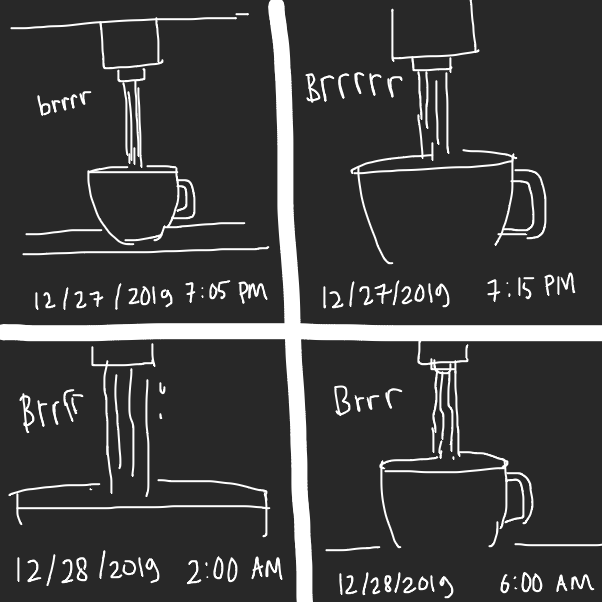 Drawing in Infinite Coffee Machine by Fathur