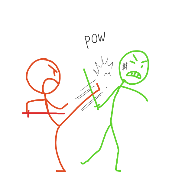 Drawing in Fight by Fathur