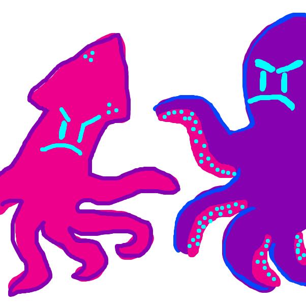 Drawing in Ozzy Octopus Vs. Stanley Squid by SteliosPapas