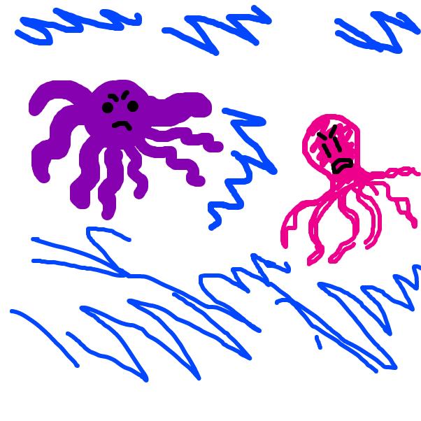 Drawing in Otis Octopus vs Shawn Squid by SteliosPapas