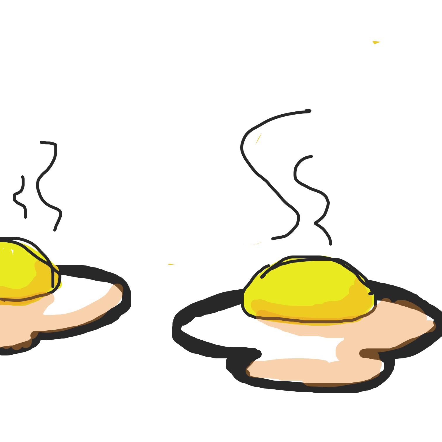 Drawing in Eggs by Juleefish