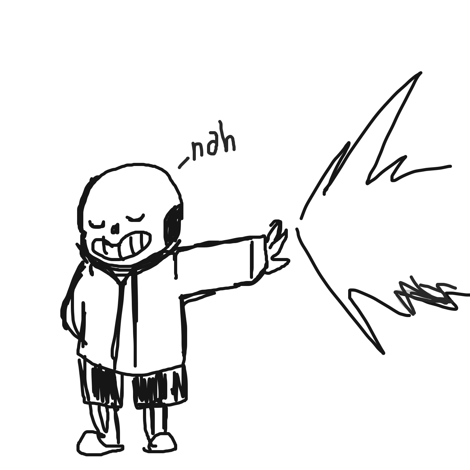Drawing in Sans_undertale by Juleefish