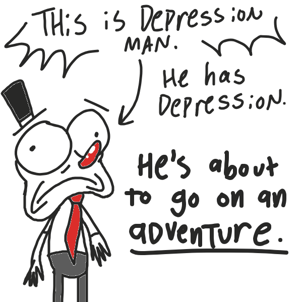 Liked webcomic The Tragic Tale O' Depression Man