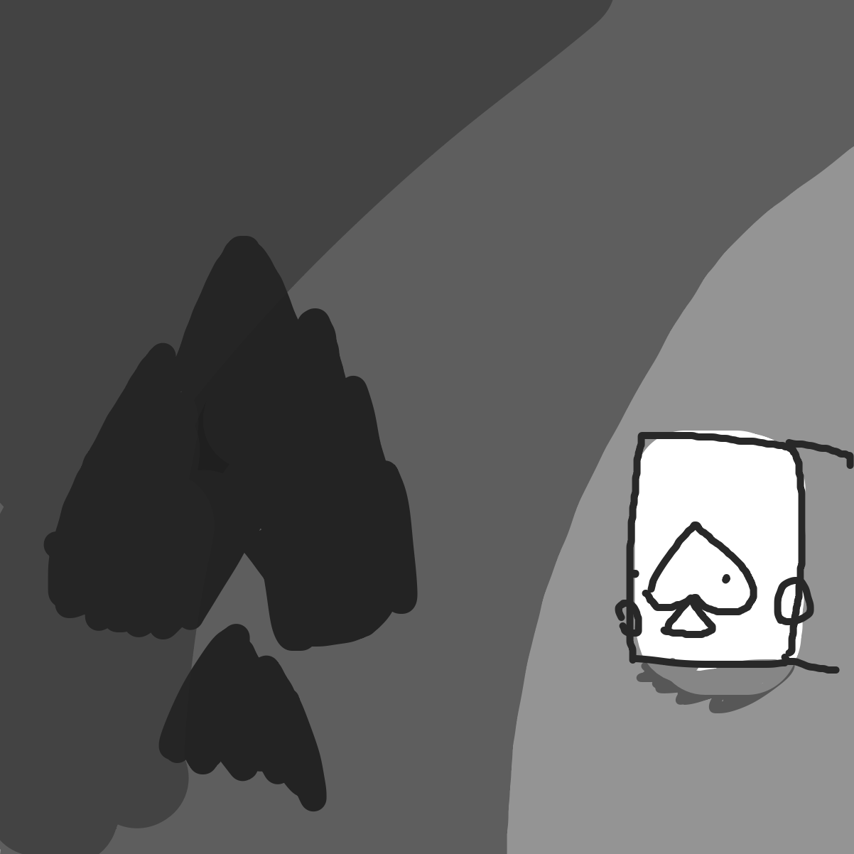 First panel in Missing II drawn in our free online drawing game
