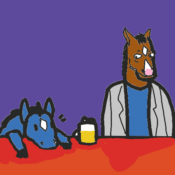 Drawing in Drunk horse by ironically horny