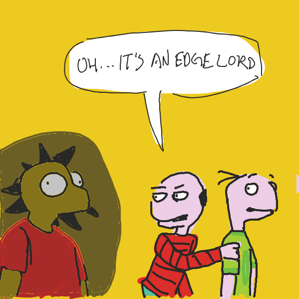 begone - Online Drawing Game Comic Strip Panel by ironically horny