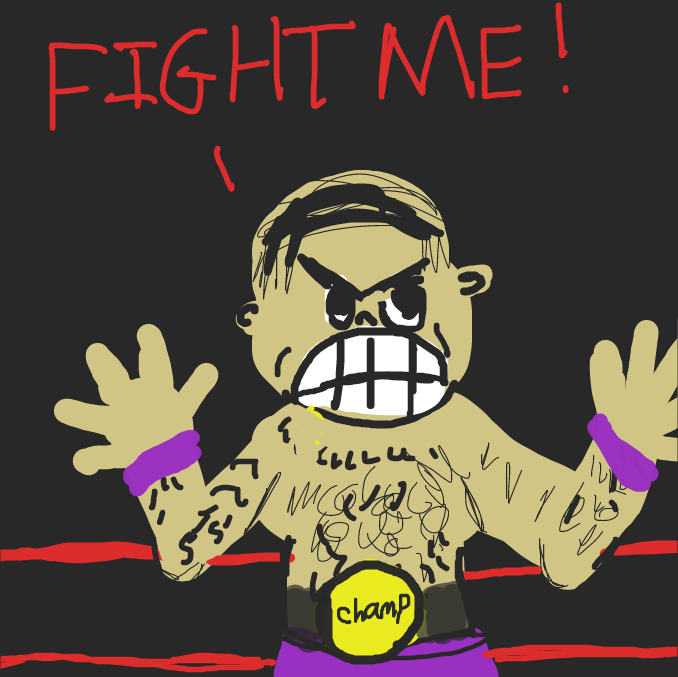 First panel in Wrestling drawn in our free online drawing game