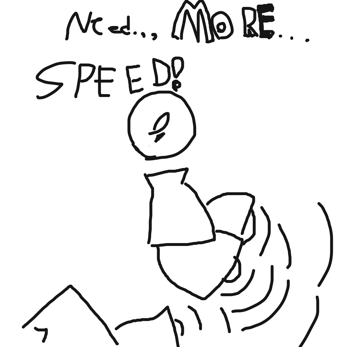I love how it goes from a fun little thing to bell racing - Online Drawing Game Comic Strip Panel by KingOfSpades2