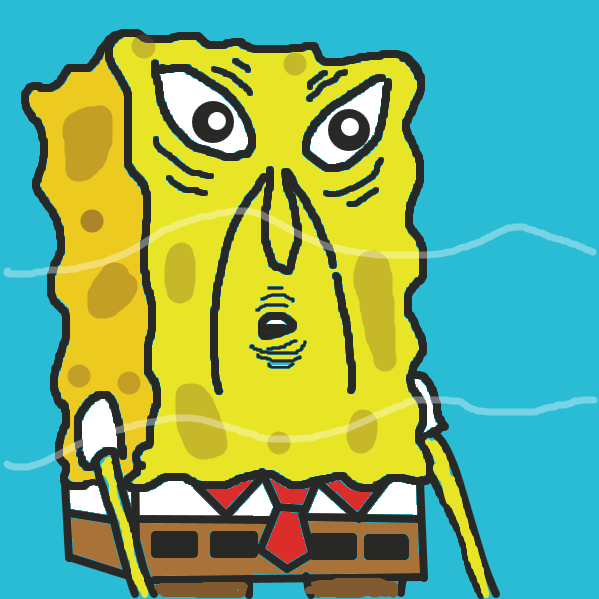 Spongebob went from looking creepy in panel 1...to too much sauce in panel 2 - Online Drawing Game Comic Strip Panel by jamdaddy