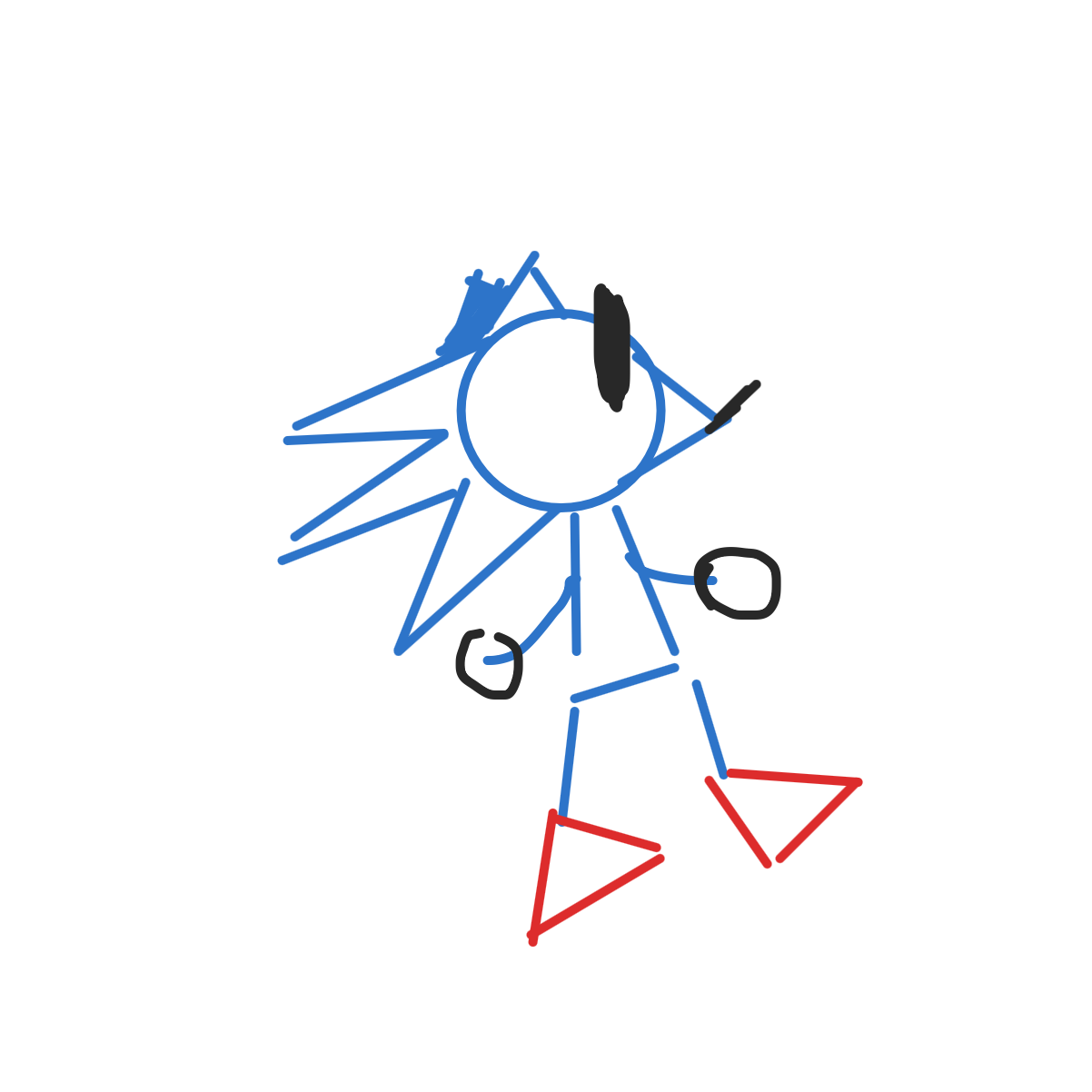 Drawing in Sanic but it keeps going faster by LizardPie34