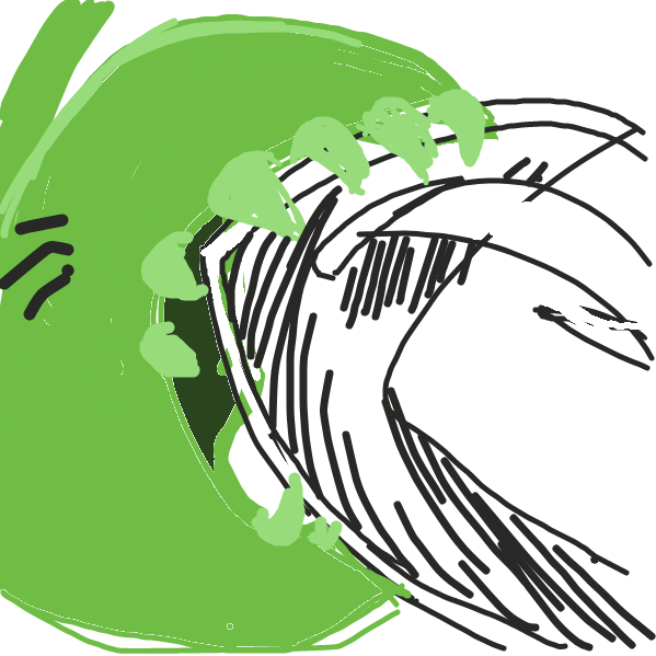 The plant monster is blocked by a shield! - Online Drawing Game Comic Strip Panel by Mosobot64