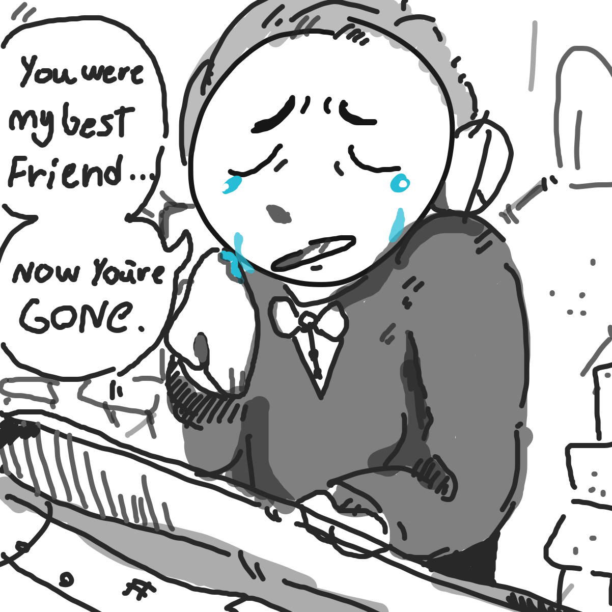 First panel in Bff forever and ever drawn in our free online drawing game