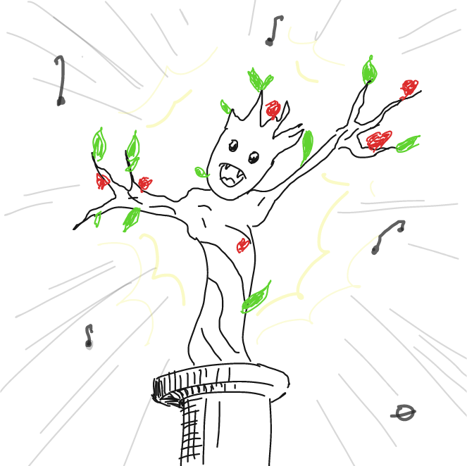 Drawing in dancin' tree by ArelaEstudio