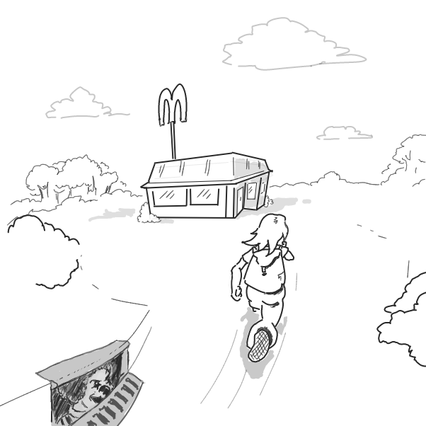 Drawing in Your average day at Mcdonalds : The sequel by WizardCroissant