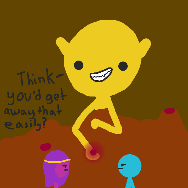 First panel in Hecc Adventures II drawn in our free online drawing game