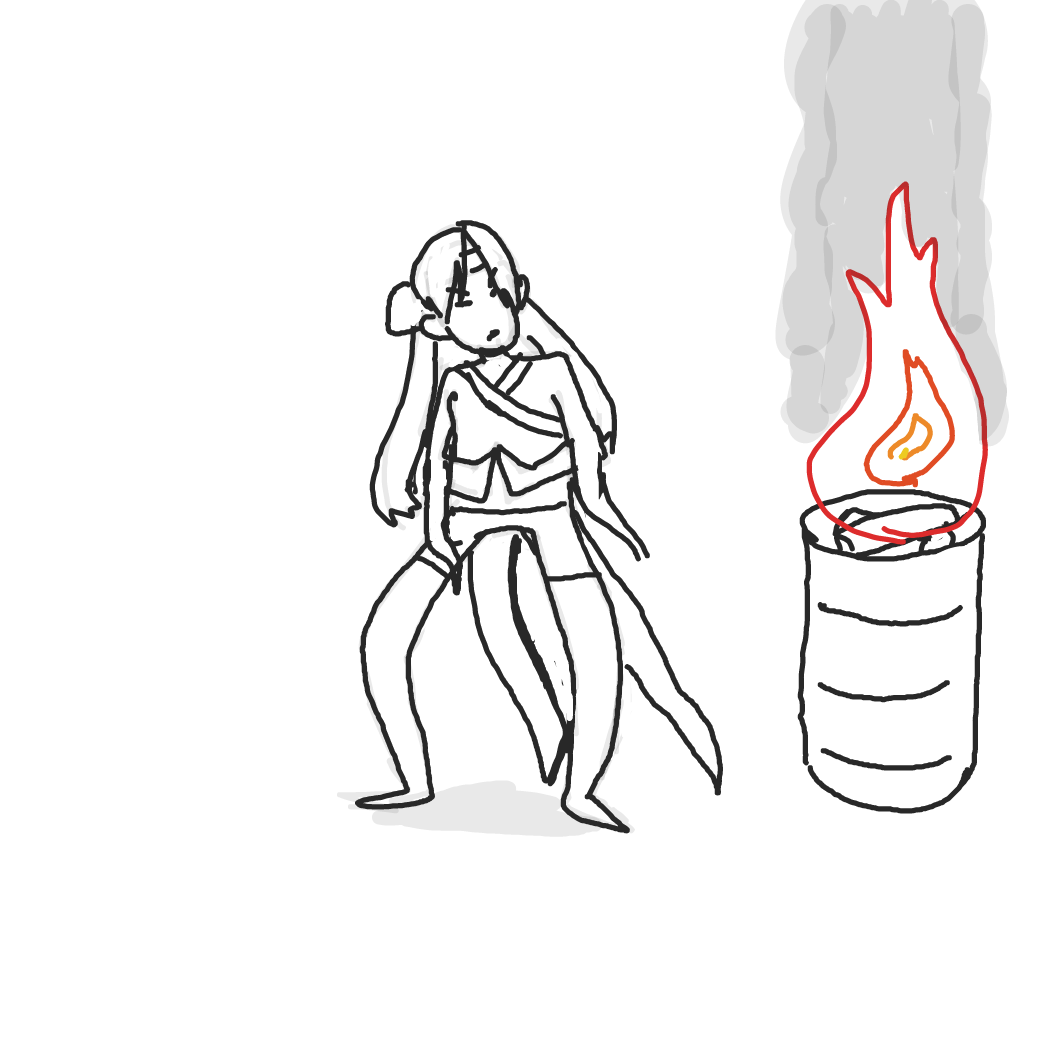 First panel in Smoke mage! drawn in our free online drawing game