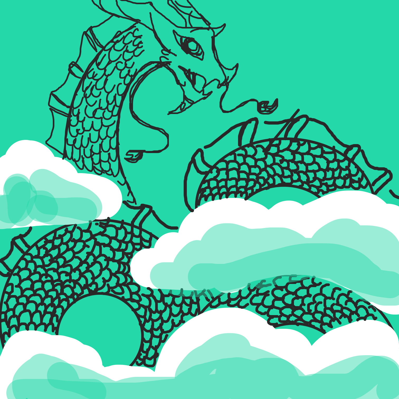 Drawing in Dragon  by Juleefish