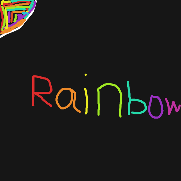 Drawing in Rainbow by plufiedapotat