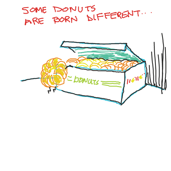 Liked webcomic The Passion of the Krispy Kreme