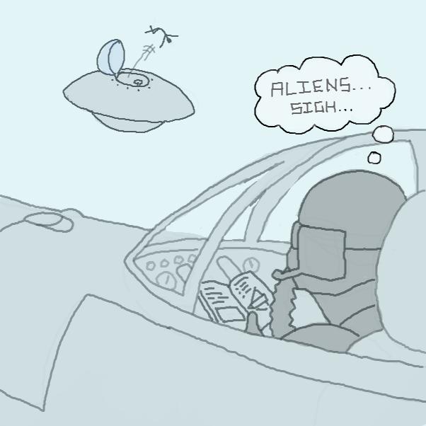 bye alien - Online Drawing Game Comic Strip Panel by Chepley