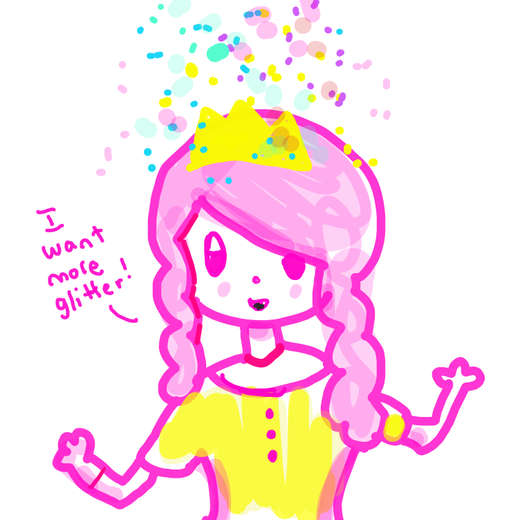 First panel in glitter primcess drawn in our free online drawing game