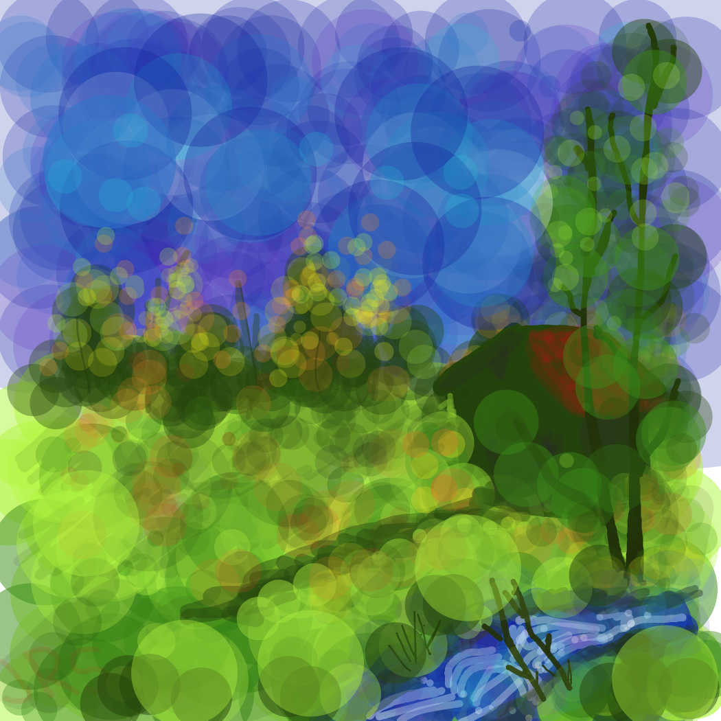 Idk. :) at least it has some happy lil trees.  - Online Drawing Game Comic Strip Panel by Rednightlight