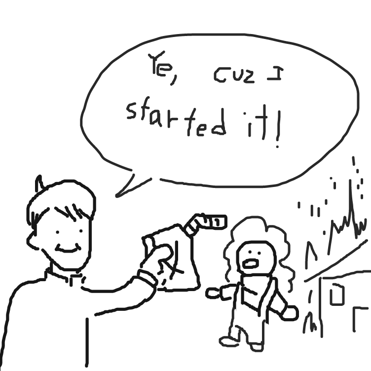 we didn't start the fire - Online Drawing Game Comic Strip Panel by FetusJesus