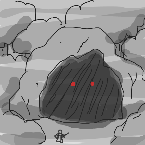 Drawing in Cave by Izzaro21