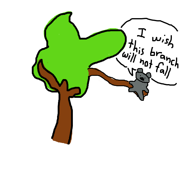 First panel in Kevin Koala in his Tree Branch drawn in our free online drawing game