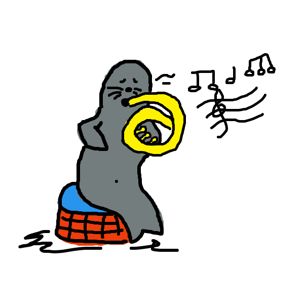 Drawing in Steven Seal plays the Tuba by SteliosPapas